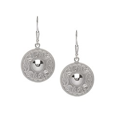 Celtic Warrior Large Silver Earrings
