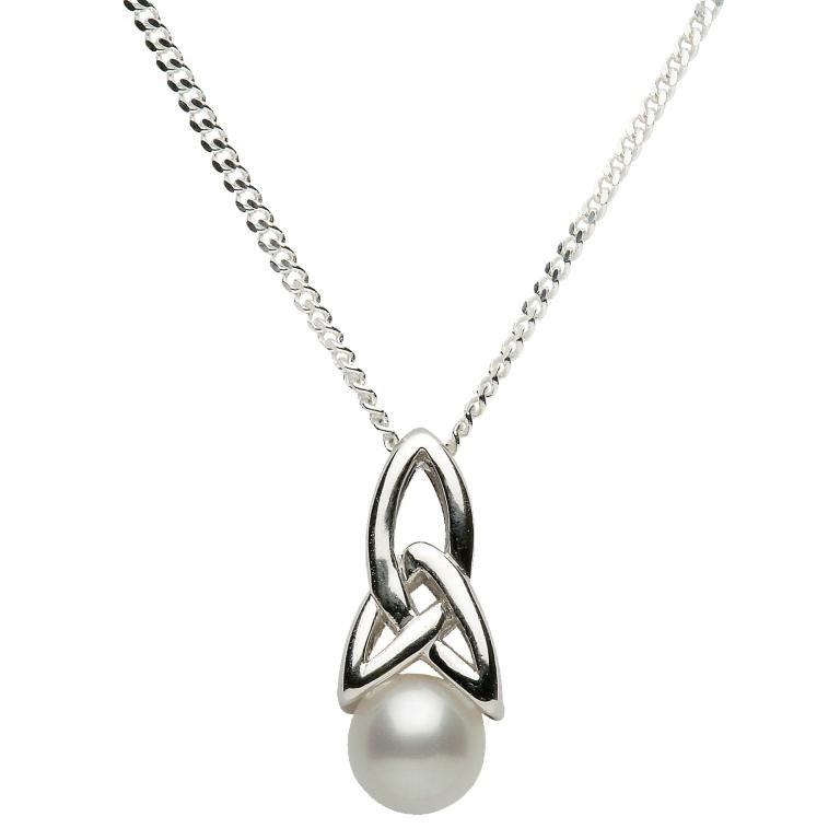 Celtic trinity knot pearl pendant celtic trinity knot pearl pendant mozeypictures Gallery