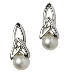 Celtic Trinity Knot Pearl Earrings