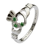 Claddagh Heart Set Silver Ring
