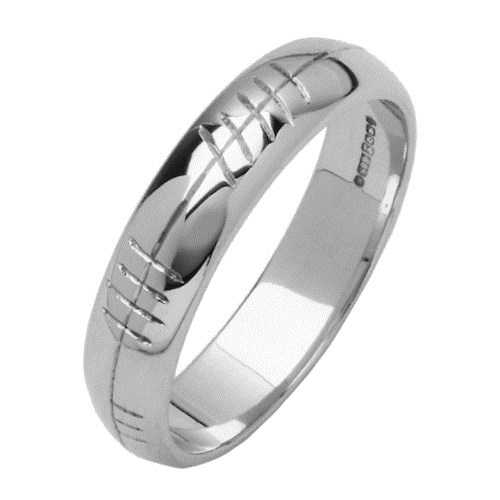 Personalized Ogham White Gold Ring