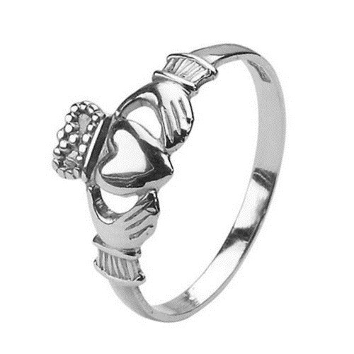 Baby White Gold Claddagh Ring