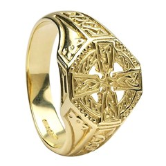 Celtic Cross Yellow Gold Ring