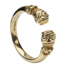 Celtic Torc Antique Yellow Gold Ring