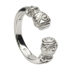 Celtic Torc Antique White Gold Ring