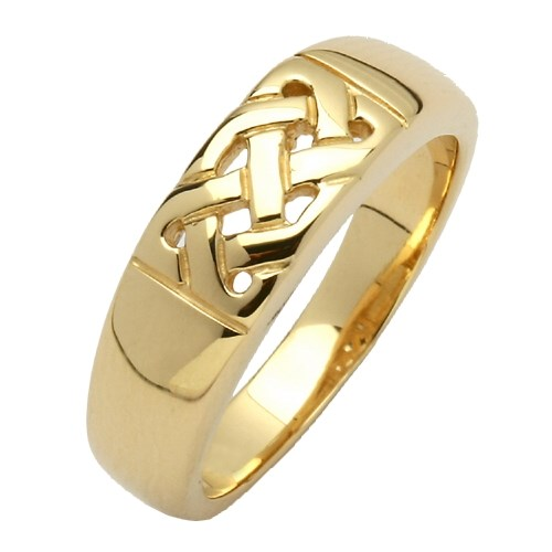 Celtic Knot Yellow Gold Ring