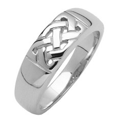 Celtic Knot White Gold Ring