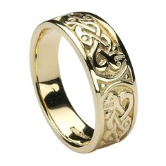 Traditional Yellow Gold Celtic Ring