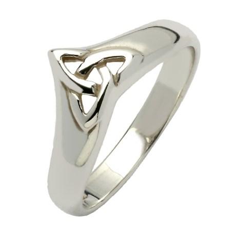14K White Gold Wishbone Ring