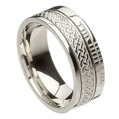 Celtic Knot Faith White Gold Band