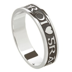 Love Of My Heart Oxidized Silver Wedding Ring