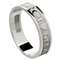 Love Of My Heart White Gold Wedding Ring