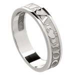 My Soul Mate White Gold Wedding Band - Ladies
