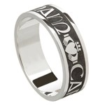 My Soul Mate Silver Wedding Band - Gents - Oxidized