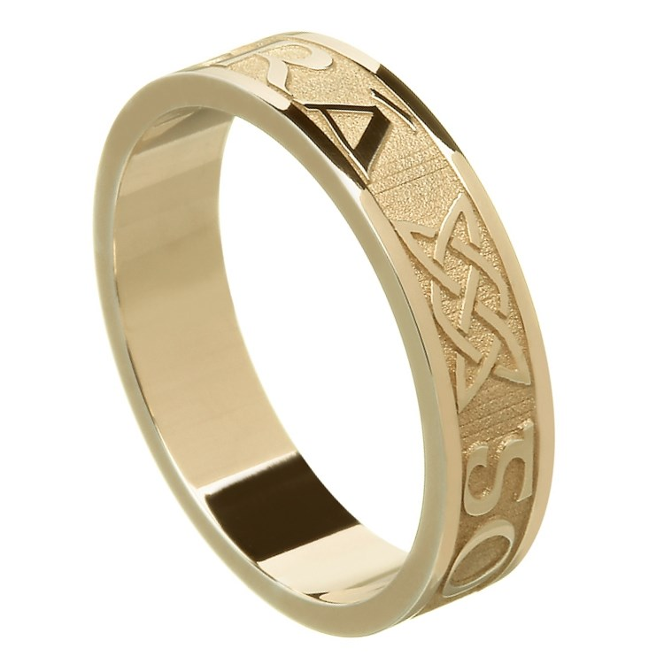 Love Forever Yellow Gold Wedding Ring - Ladies