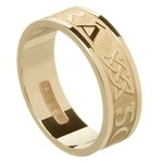 Love Forever Yellow Gold Wedding Ring - Gents