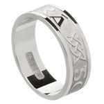 Love Forever White Gold Wedding Ring - Gents