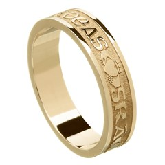 Love Loyalty Friendship Yellow Gold Wedding Ring