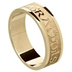 Love Loyalty Friendship Yellow Gold Wedding Ring - Gents