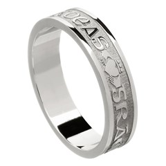Love Loyalty Friendship White Gold Wedding Ring