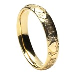 Claddagh Court Shape Yellow Gold Wedding Ring - Ladies