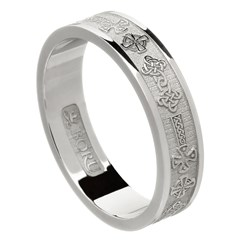 Celtic Cross White Gold Wedding Ring