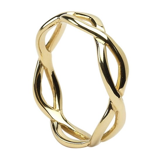 Infinity Weave Yellow Gold Wedding Ring Celtic Wedding