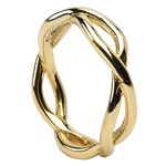 Infinity Weave Yellow Gold Wedding Ring - Gents