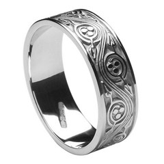 Triscele Weave Silver Wedding Band