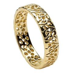 Trinity Knot Yellow Gold Wedding Ring