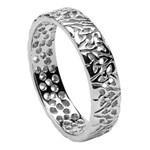 Trinity Knot White Gold Wedding Ring - Ladies