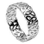 Trinity Knot White Gold Wedding Ring - Gents