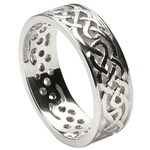 Filagree Celtic White Gold Wedding Ring - Gents