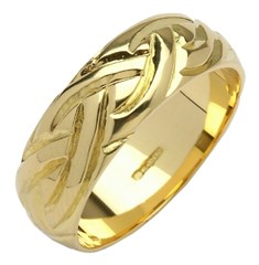 Livia Dome Wide Yellow Gold Wedding Ring