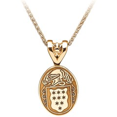 Coat of Arms Oval Yellow Gold Pendant