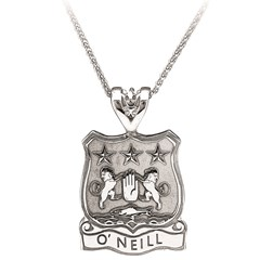 Coat of Arms Shield White Gold Pendant