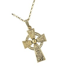 Celtic Warrior Yellow Gold Cross