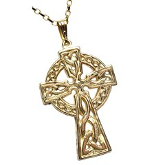 Very Large Two Sided Yellow Gold Celtic Cross