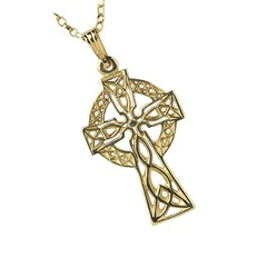 Medium Filigree Yellow Gold Celtic Cross