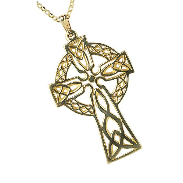Large Filigree Yellow Gold Celtic Cross