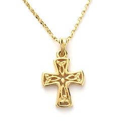 Small Yellow Gold Celtic Cross
