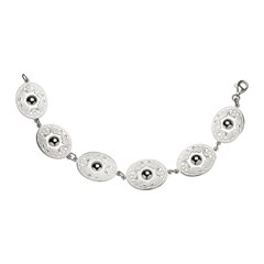 Celtic Warrior Oval White Gold Bracelet