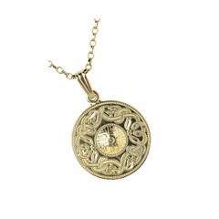 Celtic Warrior Small Yellow Gold Pendant