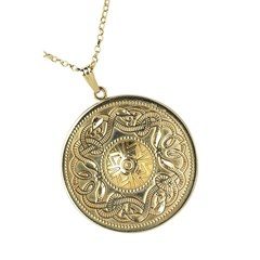 Celtic Warrior Extra Large Yellow Gold Pendant