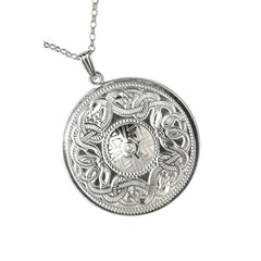 Celtic Warrior Extra Large White Gold Pendant