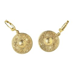 Celtic Warrior Yellow Gold Earrings