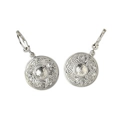 Celtic Warrior White Gold Earrings