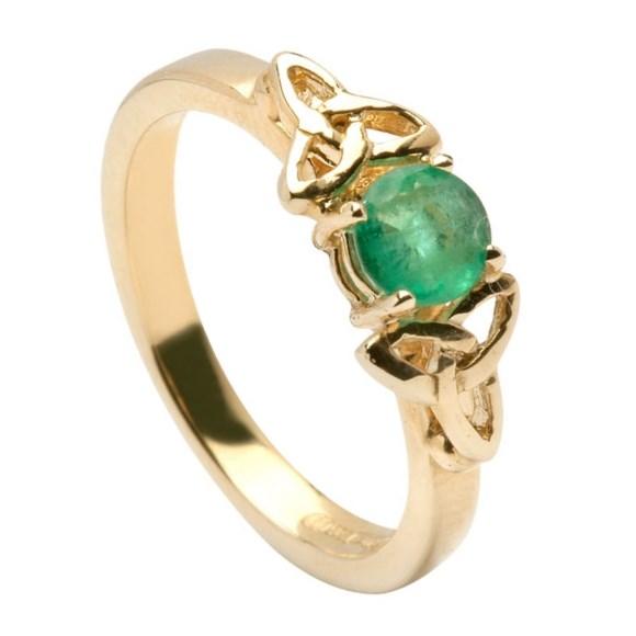 emerald knot engagement ring celtic engagement