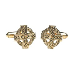 Celtic Cross Yellow Gold Cufflinks