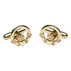Claddagh Yellow Gold Cufflinks